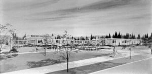 A conceptual drawing of Muriel Baxter Elementary School, circa 1969. Columbia Basin Institute photo