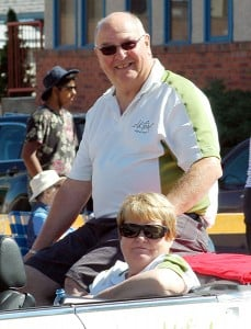 Mayor Dean McKerracher and wife Joanne represented Elkford in last year's Sam Steele Days Parade. e-KNOW file images