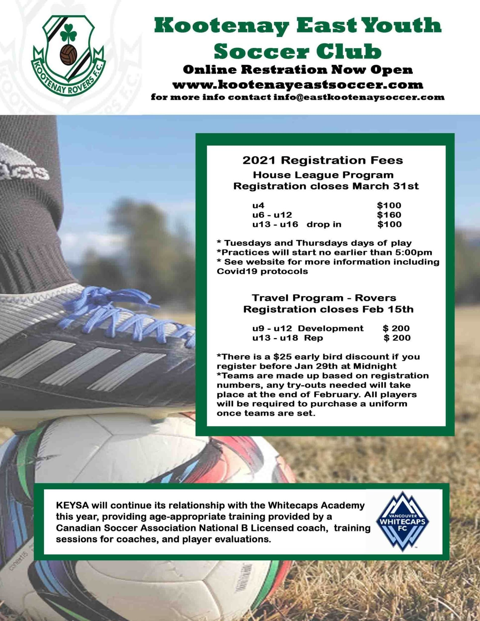 KEYSA Spring Registration